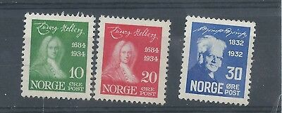 Norway stamps. 3 of the 1934 Holberg series MH (C041)