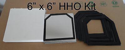19 Pcs 6x6 18ga 316l Ss Hho Kit W20 Silicone Gaskets Plus Corian Cover Set.