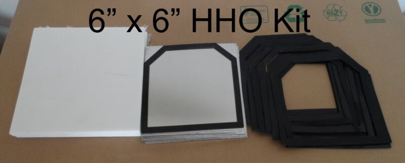 16 pc 6x6 316L SS 20 Ga. HHO Kit w/17 Silicone Gaskets plus Cover set.