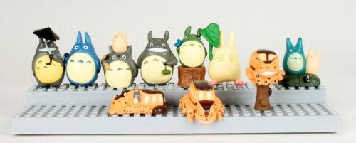 10 pcs My Neighbor Totoro Toy Figures Set Chibi Cat Cake Toppers Studio Ghibli