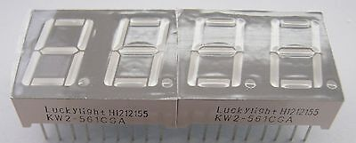 2 Stück KW2-561CGA 7-Segment LED-Anzeige 14.2mm 2 stellig grün common cathode