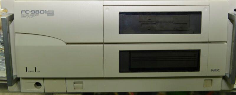 Nec Factory Computer Fc-9801b Model 2, 32bit Cpu Unit Working