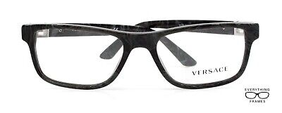 Versace VE3211 5145 Gray Marble Eyeglasses New Authentic 55
