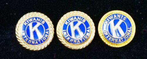 Kiwanis International Set of 3 Pins.