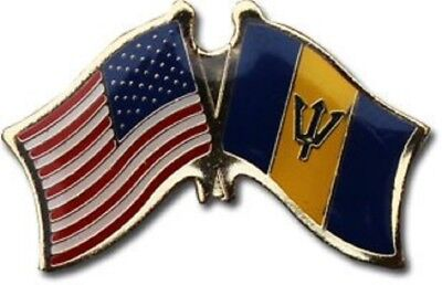 Wholesale Pack of 50 USA American Barbados Friendship Flag Hat Cap lapel Pin