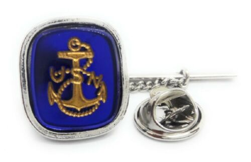 U.S. NAVY ANCHOR TIE TACK / LAPEL PIN