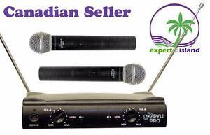 PylePro PDWM2500 Dual VHF Wireless Microphone System Great got  KARAOKE