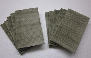 10 Mauerplatten für H0/TT - raue Bruchsteinoptik - NEU!