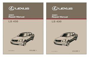 2001 Lexus LS 430 Shop Service Repair Manual Book Engine Drivetrain OEM