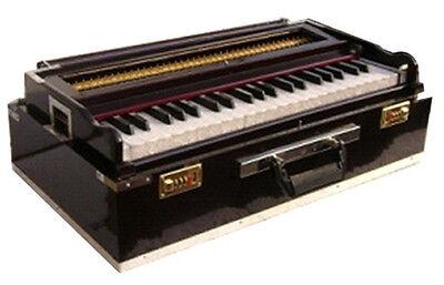 Pro grade Portable Indian Kolkata Teak Harmonium 9 Stopper 3 1/2 Octaves Coupler