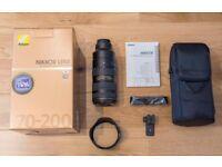 Nikon Nikkor 70-200mm f/2.8 AF-S ED VR II with HOYA Filter