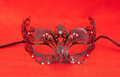 Mask Lace - Metal of Venice Loulou with Diamante Fancy Black 26