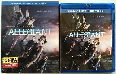 The Divergent Series  Allegiant Blu Ray Dvd 2 Disc Set   Lenticular Slipcover