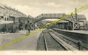 Ford Railway Station Photo. Devonport - St. Budeaux. Plymouth to Bere Alston
