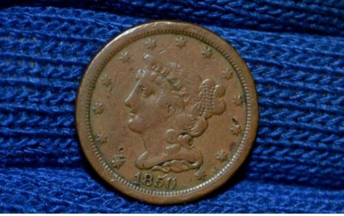 1850 HALF CENT ** VF ** CHOICE BROWN ** Take 5% Off Right Now !
