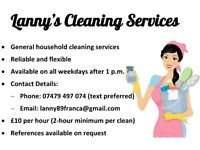 Lanny's Cleaning Services - Cleaner Looking for Work