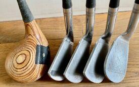 Vintage Slazenger Ben Hogan 3,5,7,9 irons and driver