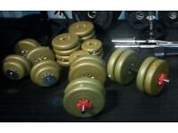 £50 ONO - 165lb (74.6kg) of Weights ONLY, Excellent Condition, clean and nicely packaged! QUICK SALE