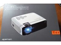 APEMAN LCD Digital Video Projector BRAND NEW Updated Technology, 4500 Lumens + Carrying Case