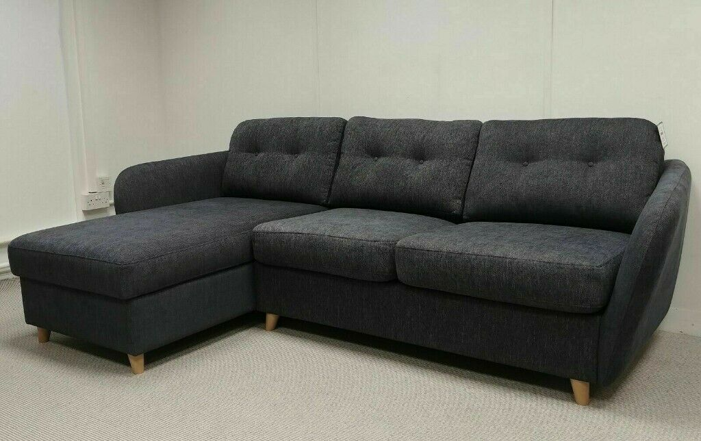 John Lewis ARLO Chaise End Sofa Bed Erin Midnight | in Bury, Manchester |  Gumtree