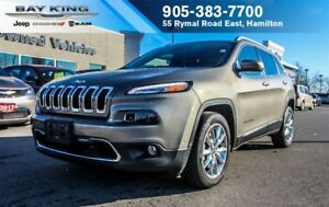 2017 Jeep Cherokee LIMITED 4X2, REMOTE START, HTD LEATHER, BACKU