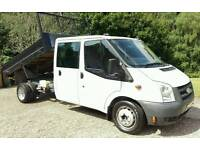 FORD TRANSIT TIPPER -- NO VAT -- 2007 ONLY 77K FULL SERVICE HISTORY ONE OWNER DOUBLE CAB