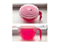 940ML CLIP AND LOCK TRAVEL LUNCH MICROWAVE MUG CONTAINER