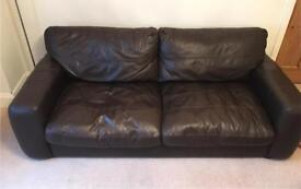 Reduced for quick sale- large leather and chair