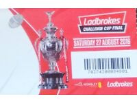 30 Warrington Wolves tickets for the Challenge Cup final at Wembley next weekend (27th August)