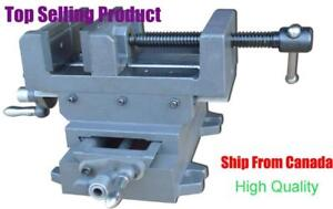 Cross Slide Drill Press Vise Heavy Duty Metal Mill Clamp Machine 5Inch Wide Hand Tool 211028