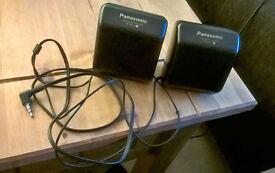 * * * Panasonic (Model RP-SP15) Personal CD player Mini Speakers * * *