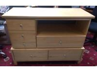 Solid six drawer chest of drawers