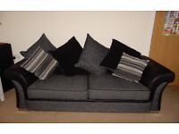 ScS Piper 3 seater Sofa and 2 Armchairs - Black & Grey