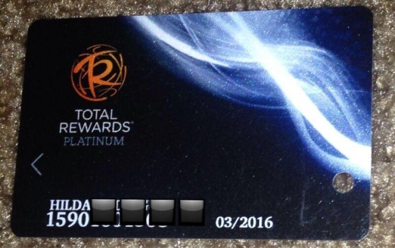 BALLY TOTAL REWARDS PLAYERS CLUB PLATINUM SLOT CARD CAESARS