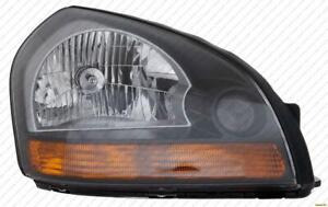 Head Light Passenger Side Orange Reflector Black Bezel High Quality Hyundai Tucson 2008-2009