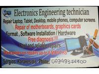Laptop repair , Mobile repair,Iphone/ MAC repair , PC/Desktop repair , Console repair ,TV/Monitor