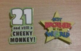 Pin Badges x2