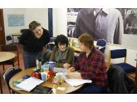 English (ESOL) courses, English for work, pronunciation training and IELTS exam preparation.