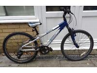 Gary Fisher Tyro mountain bike: 24in wheels, 21 gears, front suspension, aluminium frame