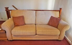 Sofas (x2) and Footstool Set - Beige