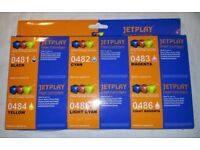 SET OF INKJET PRINTER CARTRIDGES INKS EPSON COMPATIBLE RX300 RX320 RX500 RX600 RX620 RX640 NEW BOXED