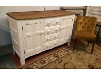 Mid-Century Ercol Blue Label Sideboard Vintage White Solid Elm*FREE DELIVERY*Shabby Chic Oak Dresser