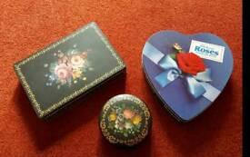 Vintage Cadbury and m&s tins