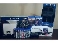 Playstation 4 Pro White + Playstation VR Bundle + 9 PS4 Games