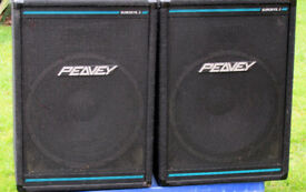 "PEAVEY EUROSYS 3 PAIR. Full Range with Eminence 15"" Bass Drivers & HF Piezo Dual horns"