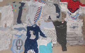 Baby BoY clothes 0-3 months Bundle (46 items)