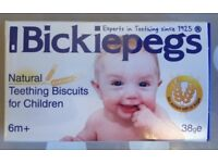 Bickipegs natural teething biscuits for Children 6m+ (BRAND NEW) (FFSP)