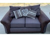 3 seater and 2 seater sofa with footstool