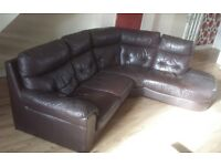Brown leather sofa URGENT gone by 28.2