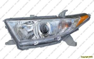 Head Lamp Driver Side Exclude Hybrid High Quality Toyota Highlander 2011-2013
